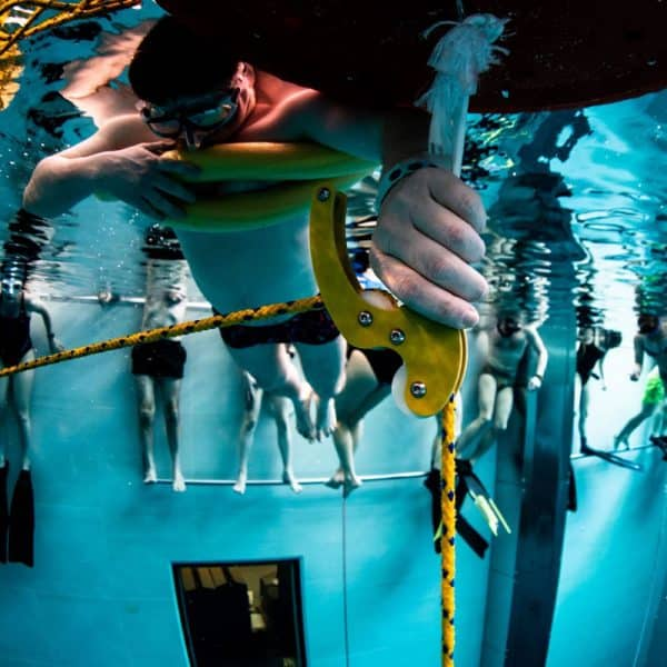 Molchanovs Pulley System in the pool 2