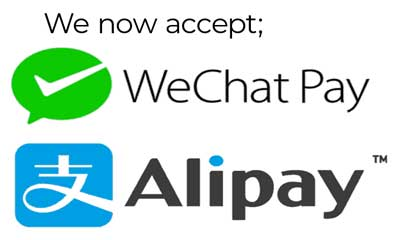 Allipay and Wechat pay are accepted