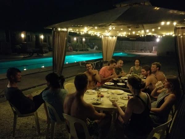 Outside Group Dinner