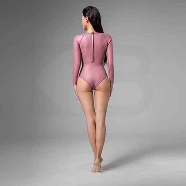 Bestdive Scenery Back Zipper Bikinisuit